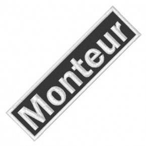 BUSINESS PATCH AUFNÄHER MONTEUR black/white 8x2cm