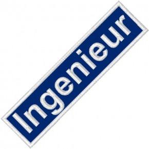 BUSINESS PATCH AUFNÄHER INGENIEUR blue/white 9x2cm