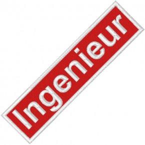 BUSINESS PATCH AUFNÄHER INGENIEUR red/white 9x2cm