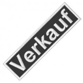 BUSINESS PATCH AUFNÄHER VERKAUF black/white 8x2cm