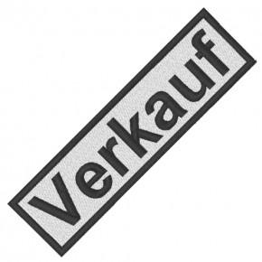 BUSINESS PATCH AUFNÄHER VERKAUF white/black 8x2cm