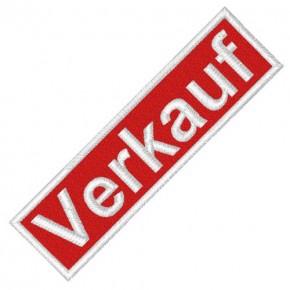 BUSINESS PATCH AUFNÄHER VERKAUF red/white 8x2cm