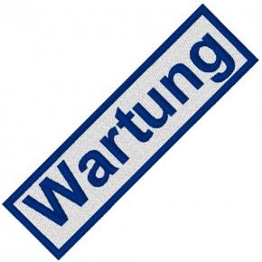 BUSINESS PATCH AUFNÄHER WARTUNG white/blue 8x2cm