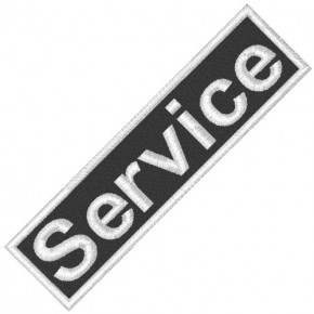 BUSINESS PATCH AUFNÄHER SERVICE black/white 8x2cm