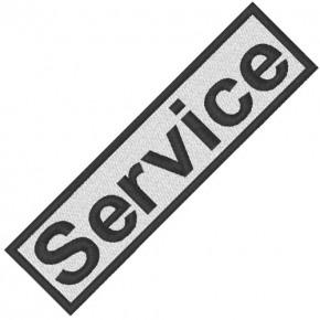 BUSINESS PATCH AUFNÄHER SERVICE white/black 8x2cm