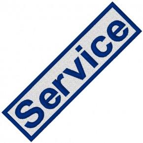 BUSINESS PATCH AUFNÄHER SERVICE blue/white 8x2cm