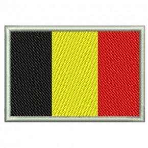 AUFNÄHER PATCH FLAGGE FAHNE Belgien 8x5,5cm