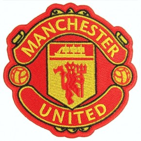 SOCCER EMBROIDERED PATCH Manchester United 10X10CM (3.9X3.9 inch)