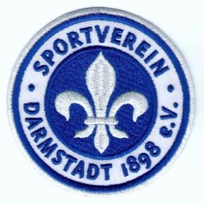 Fussball AUFNÄHER PATCH Fußball SV Darmstadt 98 D=8cm