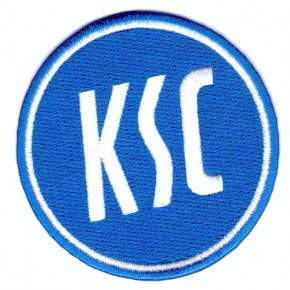 Fussball AUFNÄHER PATCH Fußball KSC Karlsruher SC D=8cm