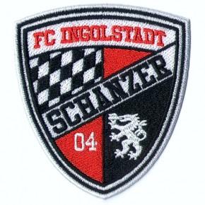 Fußball FC Ingolstadt 04 Aufnäher 100% gest. Fussball 8x9cm