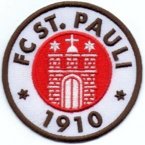 Fußball FC St. Pauli Aufnäher Fussball D=8cm