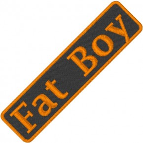 BIKER AUFNÄHER PATCH FAT BOY 7,5x1,8cm