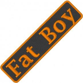 BIKER AUFNÄHER PATCH FAT BOY 7,5x1,8cm