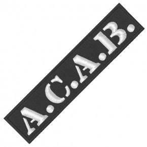 BIKER AUFNÄHER PATCH A.C.A.B. 10x2,2cm