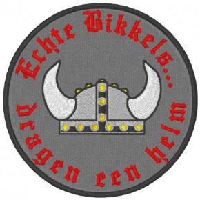 BIKER Motorrad PATCH AUFNÄHER ECHTE BIKKERS... D=8cm