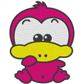 Aufnäher Patch Bügelbild Sticker Sweet Duck 7,8x10cm