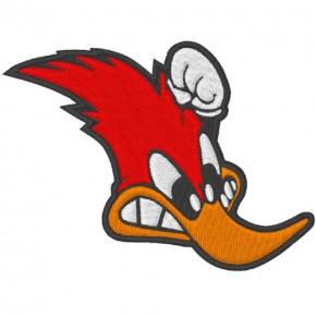 Aufnäher Patch Sticker lustige Racing Ente/Duck 10x7cm