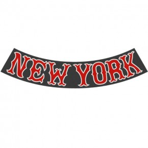 Rücken Aufnäher Back Patch NEW YORK CITY schw. 31x8,5cm