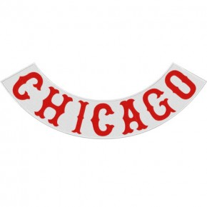 Rücken Aufnäher Back Patch CHICAGO 43x16cm