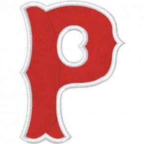 Schrift Aufnäher Buchstabe Patch P 100% gestickt,H=7cm
