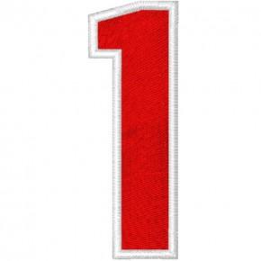 Schrift Aufnäher Patch Zahl Number 1 100% gestickt,H=7cm