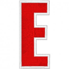 Schrift Aufnäher Patch Buchstabe E 100% gestickt,H=7cm