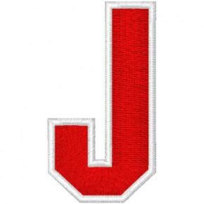 Schrift Aufnäher Patch Buchstabe J 100% gestickt,H=7cm
