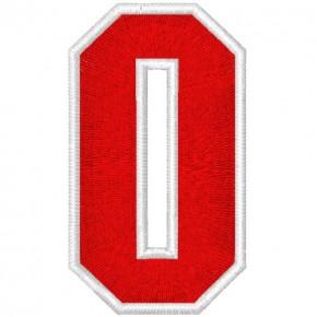Schrift Aufnäher Patch Buchstabe O 100% gestickt,H=7cm