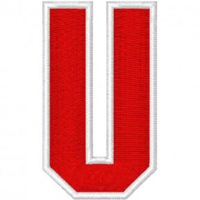 Schrift Aufnäher Patch Buchstabe U 100% gestickt,H=7cm