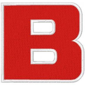 Schrift Aufnäher Buchstabe Patch B 100% gestickt,H=7cm