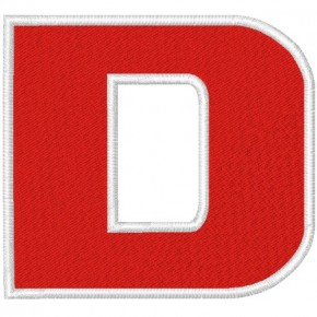 Schrift Aufnäher Buchstabe Patch D 100% gestickt,H=7cm