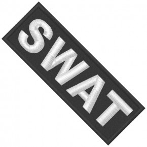 SWAT EMBROIDERED PATCH Special Forces 10x3,5cm   3.94x1.38inch