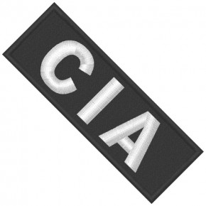 CIA Aufnäher Central Intelligence Agency 10x3,5cm