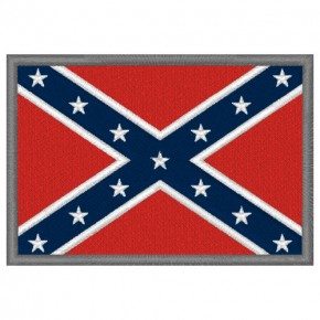 Aufnäher Südstaaten Fahne Flagge USA Amerika 100% gestickt 8x5,5cm