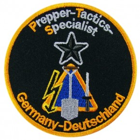 Prepper-Tactics-Specialist embroidered Patch D=3.15 inch