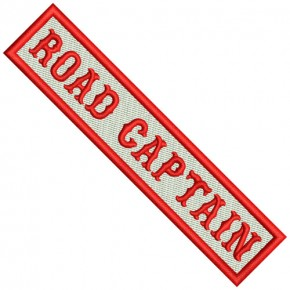 Biker Patch ROAD CAPTAIN 12x2,5cm (4.72x0.98 inch)