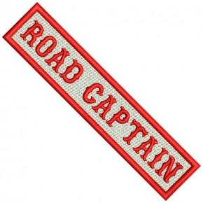 Biker Patch ROAD CAPTAIN 12x2,5cm (4.72x0.98 inch)