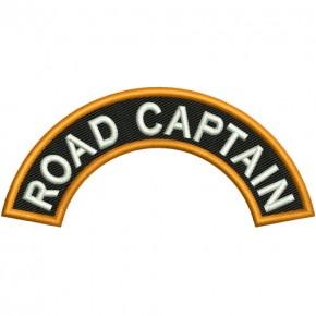 Biker Patch ROAD CAPTAIN 10x4,5cm (3.94x1.77 inch)