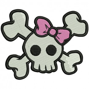 PATCH DEATH HEAD GIRL 8x6,5cm (3.1x2.5 inch)