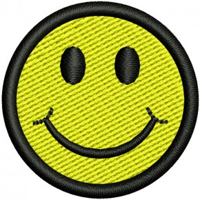 SMILEY AUFNÄHER PATCH D=3cm