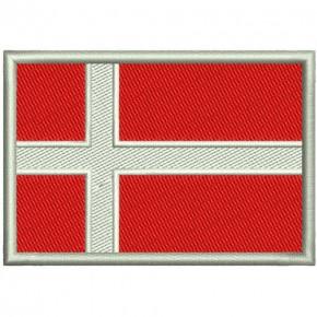 AUFNÄHER PATCH FLAGGE FAHNE DÄNEMARK DENMARK 8x5,5cm