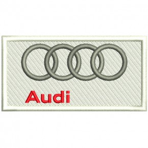 AUTO FAN PATCH AUFNÄHER AUDI LOGO 8,5x4,5cm