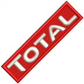 Aufnäher Patch TOTAL Oil Racing 10x2,5cm