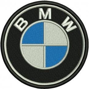 AUFNÄHER PATCH Stoffabzeichen BMW D=6cm