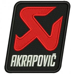 AKRAPOVIC BIKER RACING RALLY FAN AUFNÄHER PATCH 7,5x8cm