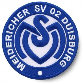 Fussball AUFNÄHER PATCH Fußball MSV Duisburg D=8cm