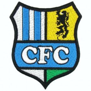 Fussball AUFNÄHER PATCH Fußball Chemnitzer FC 100% gestickt 6,5x8cm