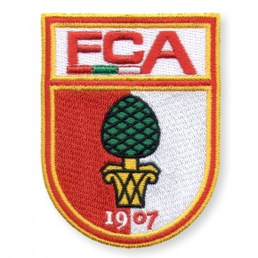 Fussball AUFNÄHER PATCH Fußball FCA Augsburg 100% gestickt 6x8cm
