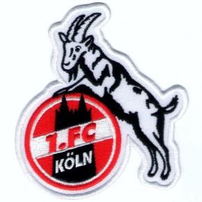 Fussball AUFNÄHER PATCH Fußball 1. FC Köln 8,5x9,5cm